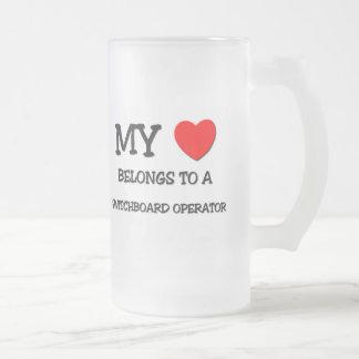 My Heart Belongs To A SWITCHBOARD OPERATOR Mugs