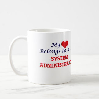 My heart belongs to a System Administrator Coffee Mug