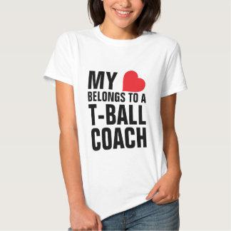 My heart belongs to a T-Ball Coach Tee Shirt