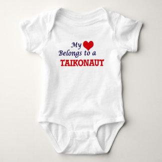 My heart belongs to a Taikonaut Baby Bodysuit
