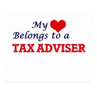 My heart belongs to a Tax Adviser Postcard