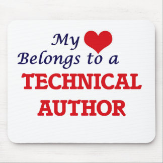 My heart belongs to a Technical Author Mouse Pad