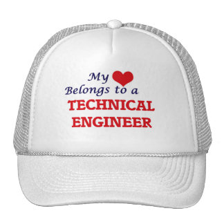 My heart belongs to a Technical Engineer Trucker Hat