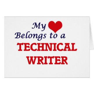 My heart belongs to a Technical Writer Card