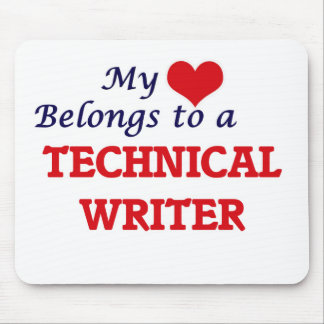 My heart belongs to a Technical Writer Mouse Pad