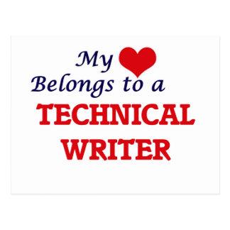 My heart belongs to a Technical Writer Postcard