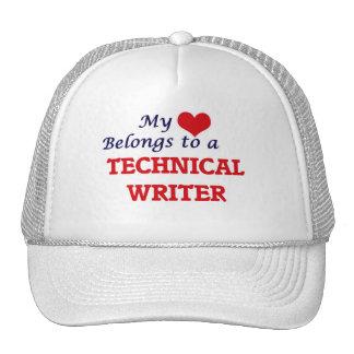 My heart belongs to a Technical Writer Trucker Hat