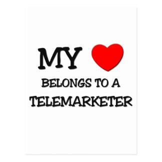 My Heart Belongs To A TELEMARKETER Postcard