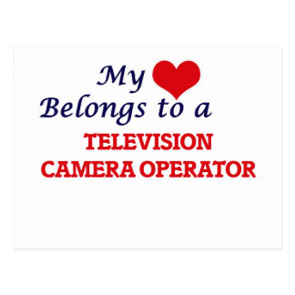My heart belongs to a Television Camera Operator Postcard