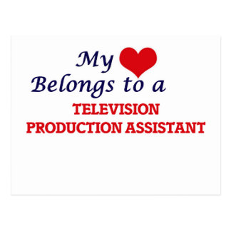 My heart belongs to a Television Production Assist Postcard