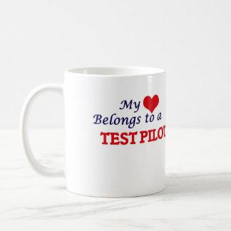 My heart belongs to a Test Pilot Coffee Mug