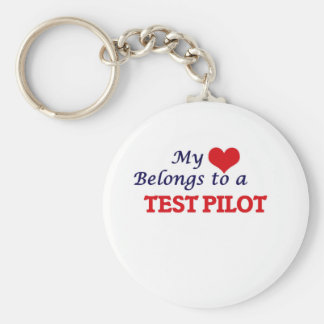 My heart belongs to a Test Pilot Keychain