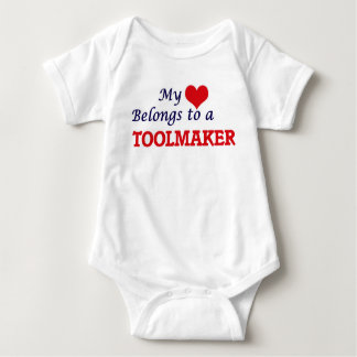 My heart belongs to a Toolmaker Baby Bodysuit