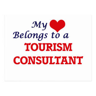 My heart belongs to a Tourism Consultant Postcard