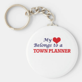 My heart belongs to a Town Planner Keychain