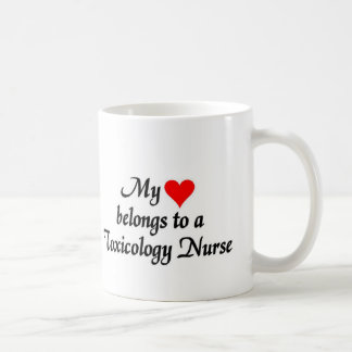 My heart belongs to a toxicology Nurse Coffee Mug