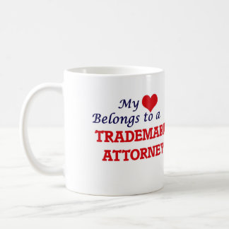 My heart belongs to a Trademark Attorney Coffee Mug