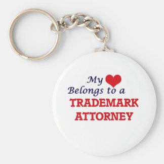 My heart belongs to a Trademark Attorney Keychain