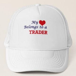 My heart belongs to a Trader Trucker Hat
