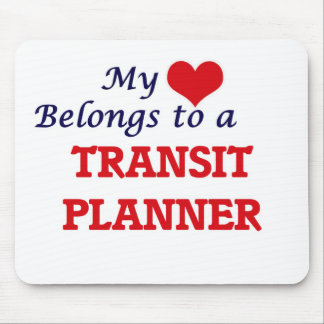 My heart belongs to a Transit Planner Mouse Pad