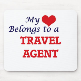 My heart belongs to a Travel Agent Mouse Pad
