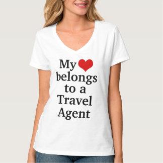 My heart belongs to a travel agent shirt