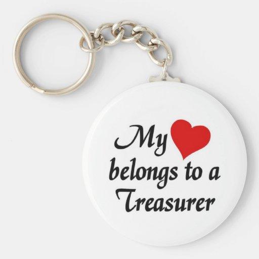 My heart belongs to a treasurer keychain