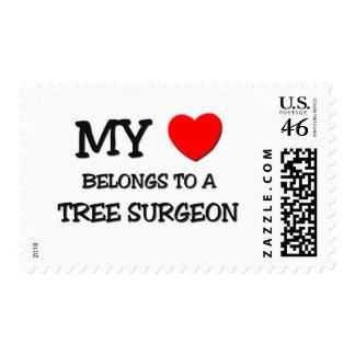 My Heart Belongs To A TREE SURGEON Stamp