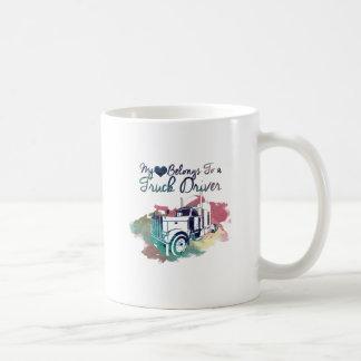 My Heart Belongs To a Truck Driver Coffee Mug