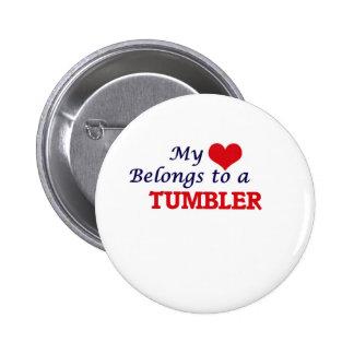 My heart belongs to a Tumbler Button