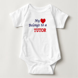 My heart belongs to a Tutor Baby Bodysuit