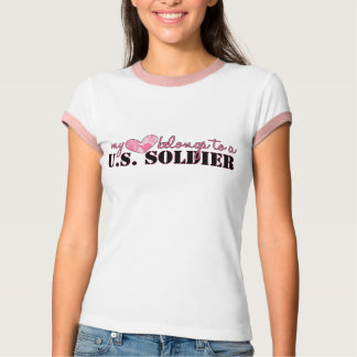 My Heart Belongs to a U.S. Soldier Army Ringer T-S T-Shirt