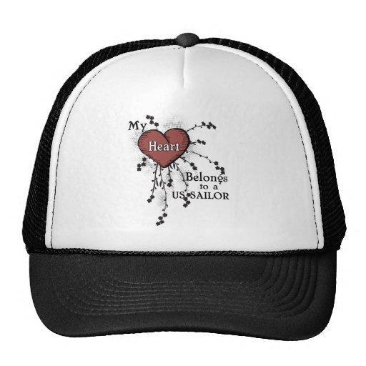 My Heart Belongs to a US Sailor 2 Trucker Hat