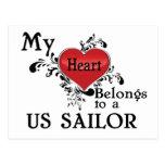 My Heart Belongs to a US Sailor Postcard