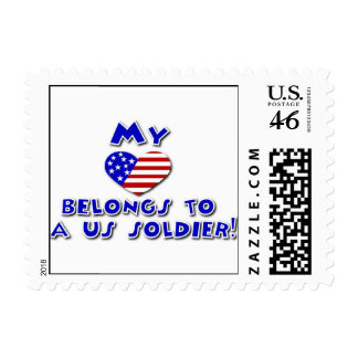 My heart belongs to a US Soldier postage
