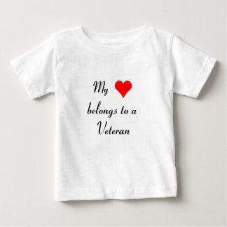 """""""My Heart Belongs to a Veteran"""" Baby T-Shirt"""