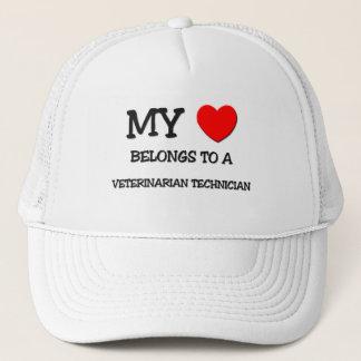 My Heart Belongs To A VETERINARIAN TECHNICIAN Trucker Hat