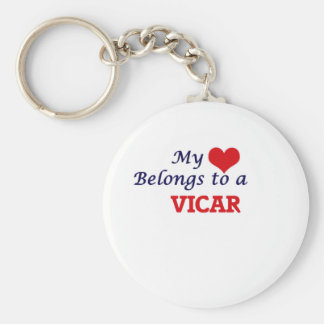 My heart belongs to a Vicar Keychain