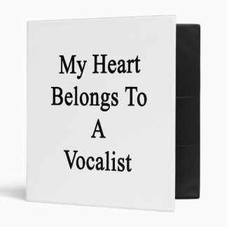 My Heart Belongs To A Vocalist Binders