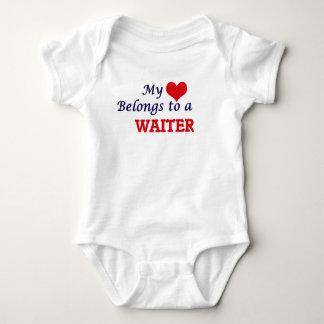 My heart belongs to a Waiter Baby Bodysuit