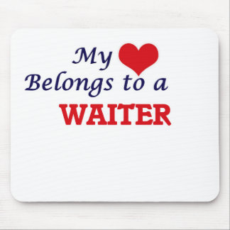 My heart belongs to a Waiter Mouse Pad