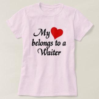 My heart belongs to a waiter T-Shirt