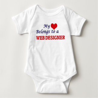 My heart belongs to a Web Designer Baby Bodysuit