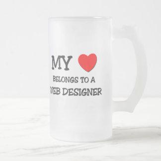 My Heart Belongs To A WEB DESIGNER Coffee Mugs