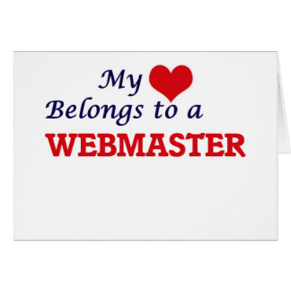 My heart belongs to a Webmaster Card