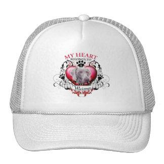 My Heart Belongs to a Weimer Trucker Hat