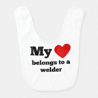 My Heart Belongs To A Welder Bib