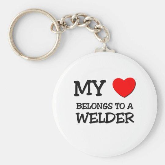 My Heart Belongs To A WELDER Keychain
