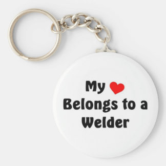 My heart belongs to a Welder Keychain