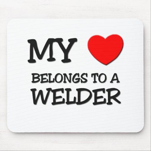 My Heart Belongs To A WELDER Mouse Pad